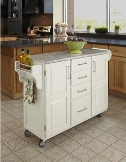 Create-A-Cart Kitchen Cart with Marble Top - modern - kitchen islands and kitchen carts - by Wayfair & Create-A-Cart Kitchen Cart with Marble Top - modern - kitchen ...