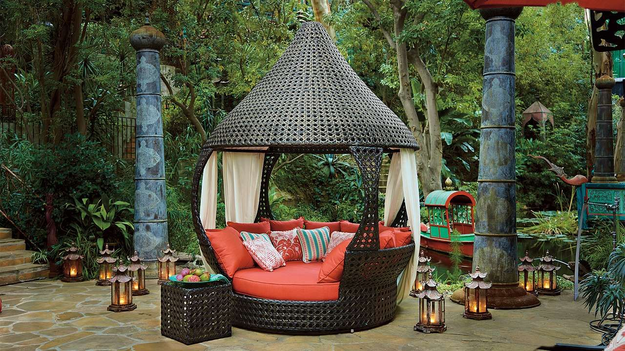 Oasis Daybed | Outdoor living, Outdoor living space ... on Living Spaces Outdoor Daybed id=36764