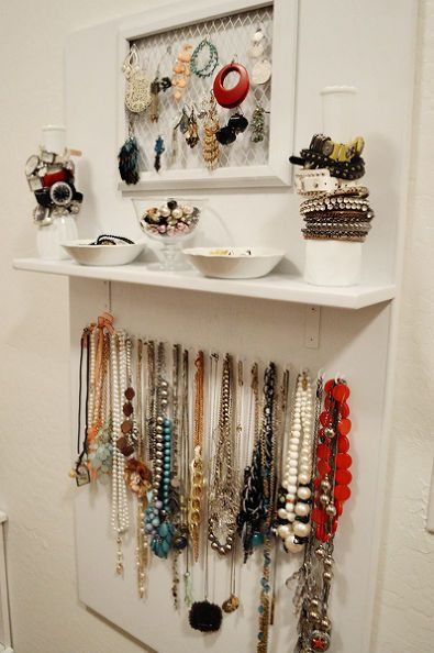 Diy Jewelry Storage Board Jewelry Storage Diy Jewelry Organizer