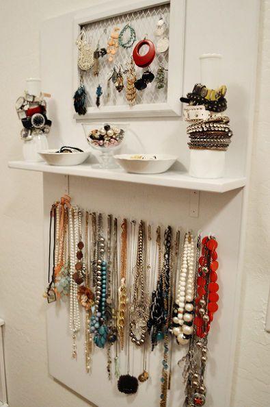 Diy Jewelry Storage Board Jewelry Storage Diy Jewelry Storage Solutions Organizing Hair Accessories
