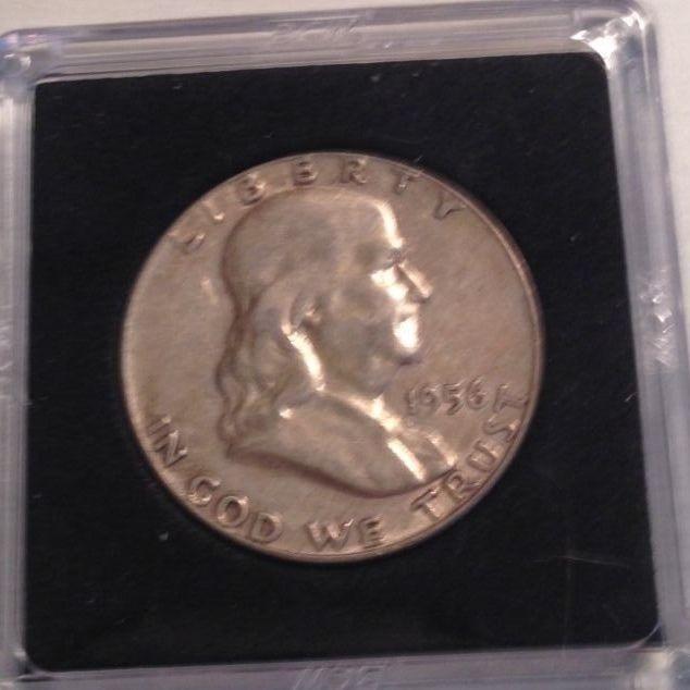 1956 Benjamin Franklin Half Dollar Silver Coin Nice No Reserve