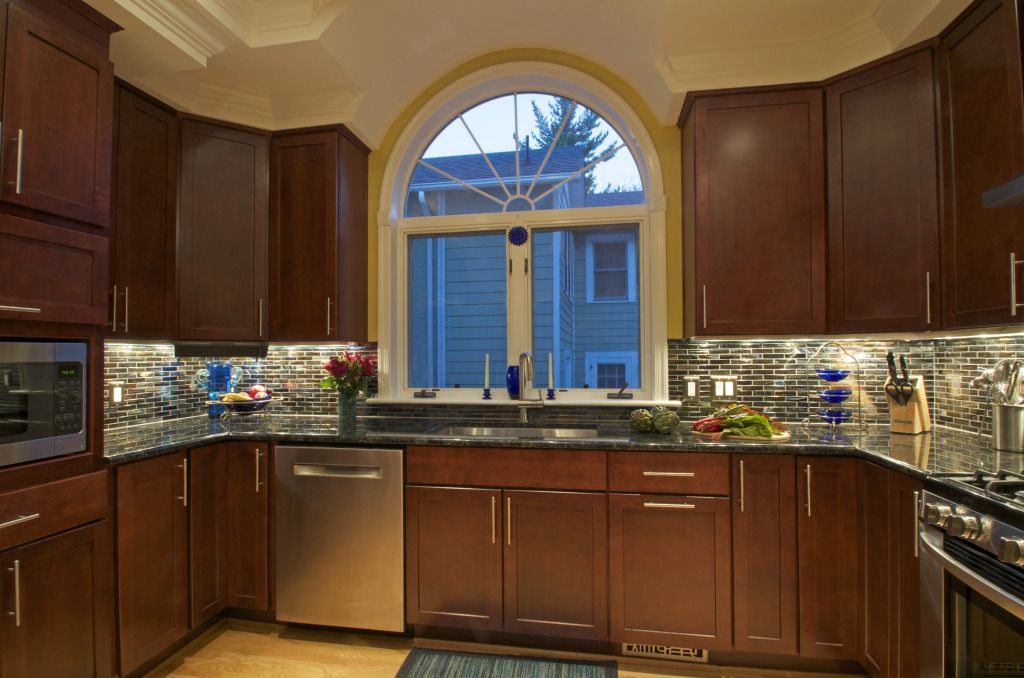 This Kitchen Features Merillat Classic Plywood Cabinets With Spring Valley  Doors.