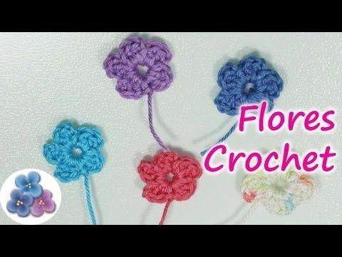 DIY Como Hacer Flores de Crochet How to Crochet a Flower Flores
