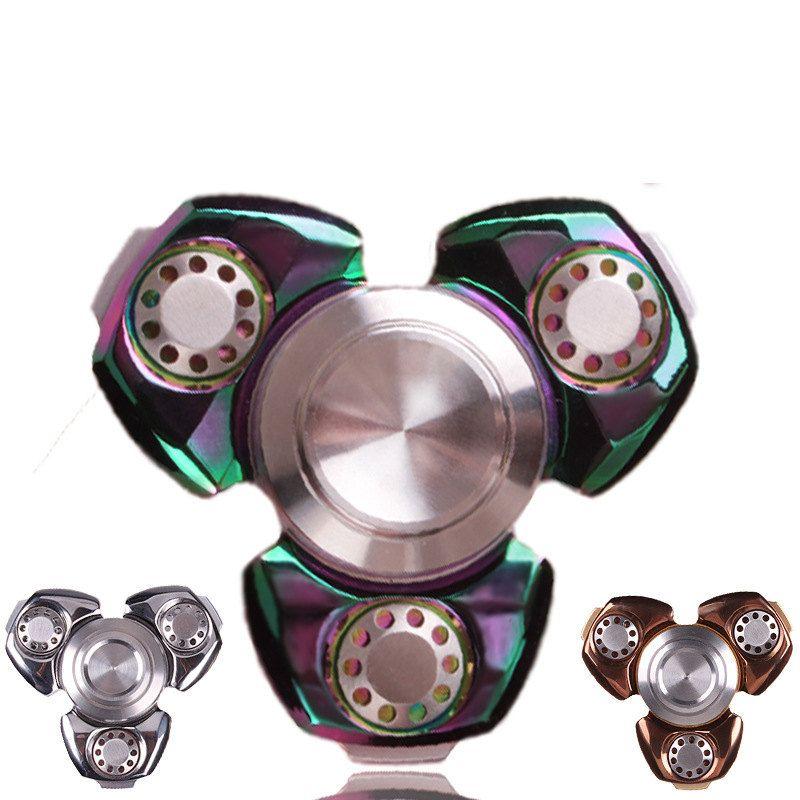 Fidget Hand Spinner EDC Tri-Spinner Toy Good for HDAD Anti Stress Christmas Gift