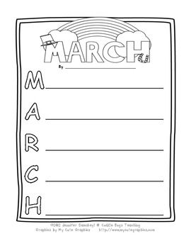 March Acrostic Poem from Cuddle Bugs Teaching