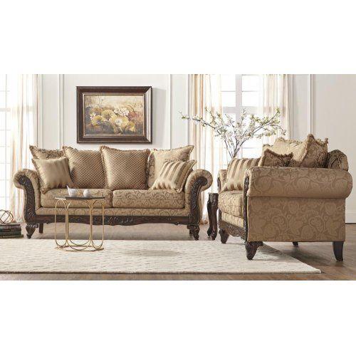 7650 momentum khaki sofa and loveseat  living room chairs