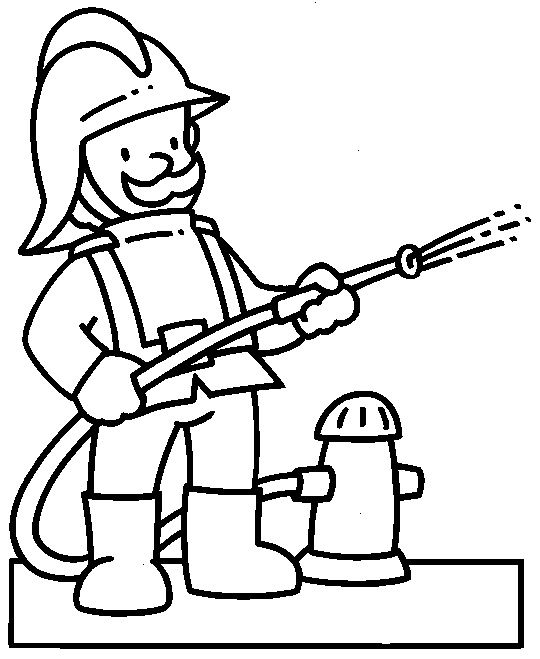 fire fighter is a community helper coloring pages enjoy coloring