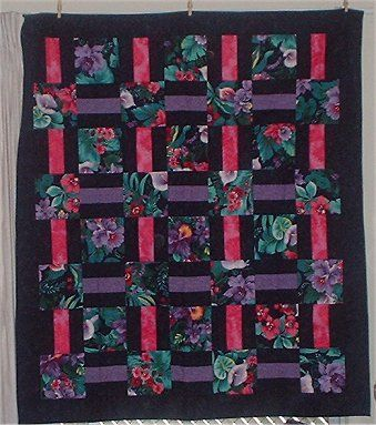 Rail Fence Quilt Pattern Is A Picture Of One Of The Quilts