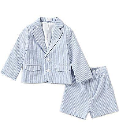 8c4e18310 Mud Pie Baby Boys 618 Months Seersucker Jacket and Shorts Set ...