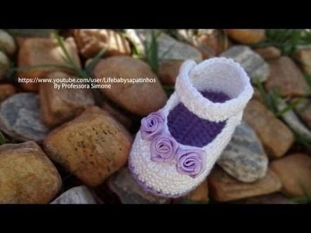 Imagini pentru sapatinhos de croche para bebe passo a passo