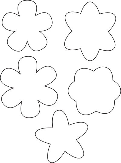 Simple Flower Template Free Download Flower Template Flower Coloring Pages Coloring Pages