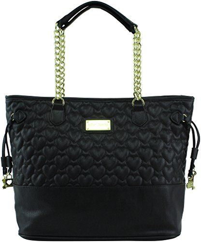 Betsey Johnson Exclusive Quilted Tote, Black