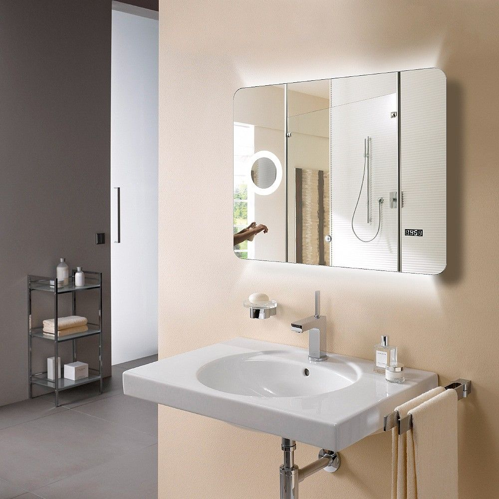 The feature packed 'Eneo' Mirror by Arcisan  Featuring LED lighting