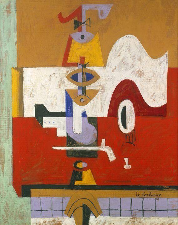 Le Corbusier ( 1887-1965 ) - Nature morte 1961