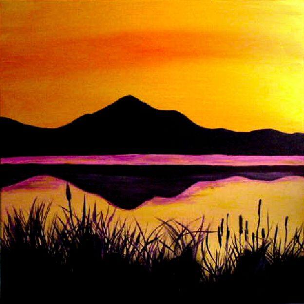 Sunset Mountain Landscapes Mountain Landscape Sunset Landscape Sunset