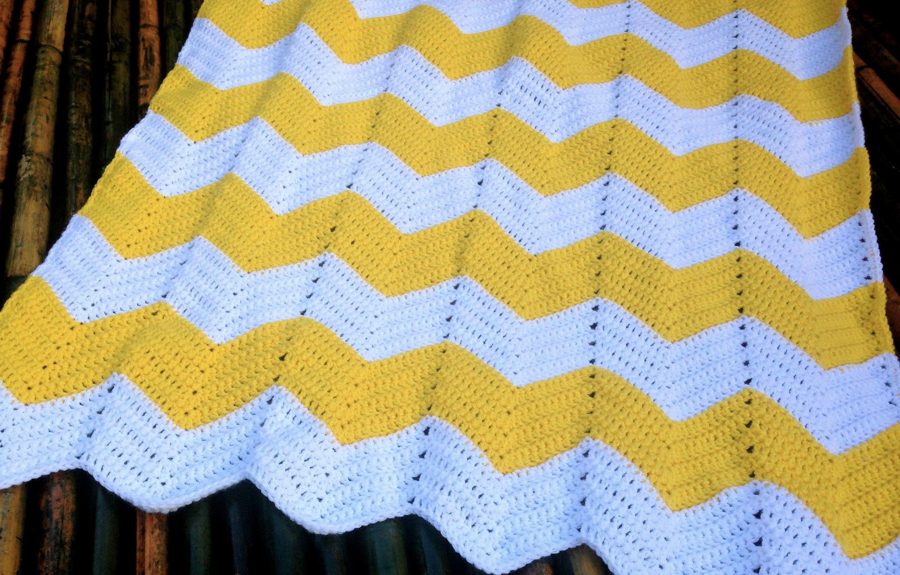Chevron Baby Blanket Free Crochet Pattern | Manta, Ganchillo y Para ...