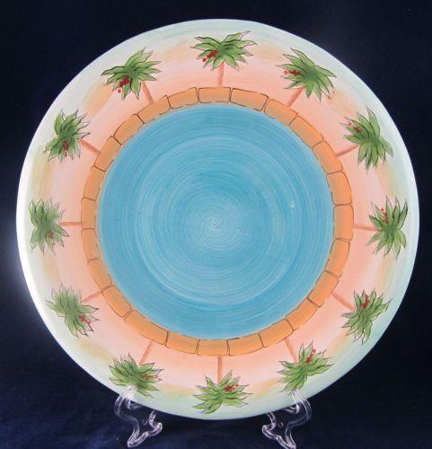 Baum Bros Tropical Palm Serving Plate Platter Anne Ormsby | eBay