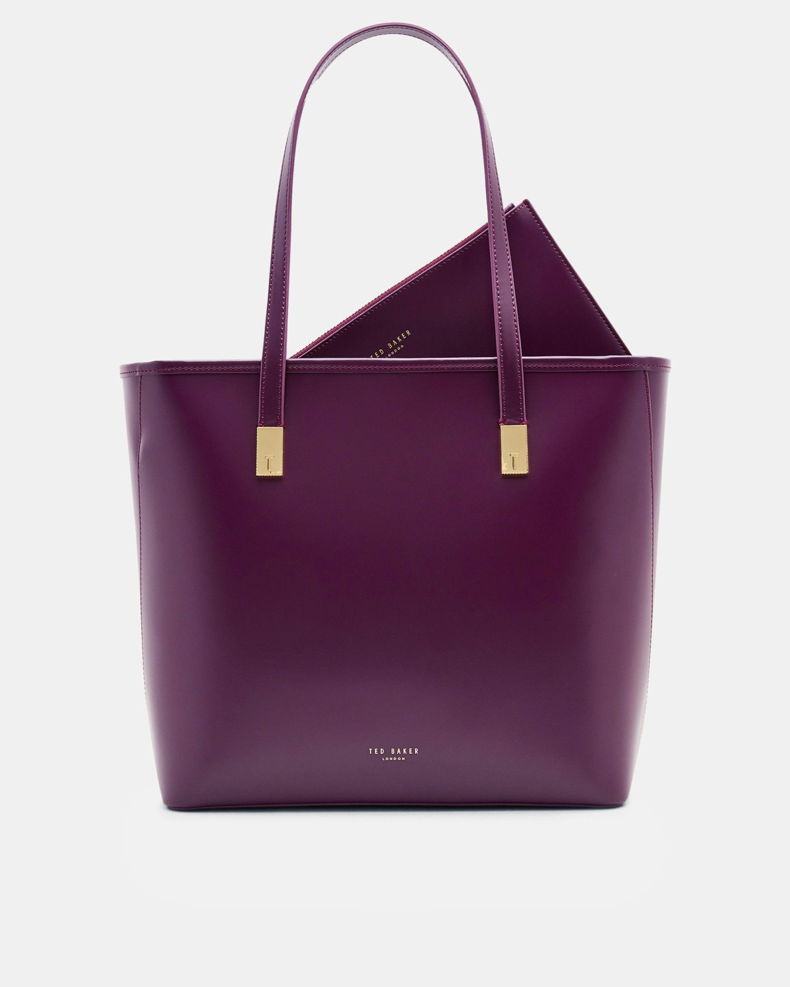 78ce5893e3 Leather large shopper bag - Mid Purple | Bags | Ted Baker UK | Style ...