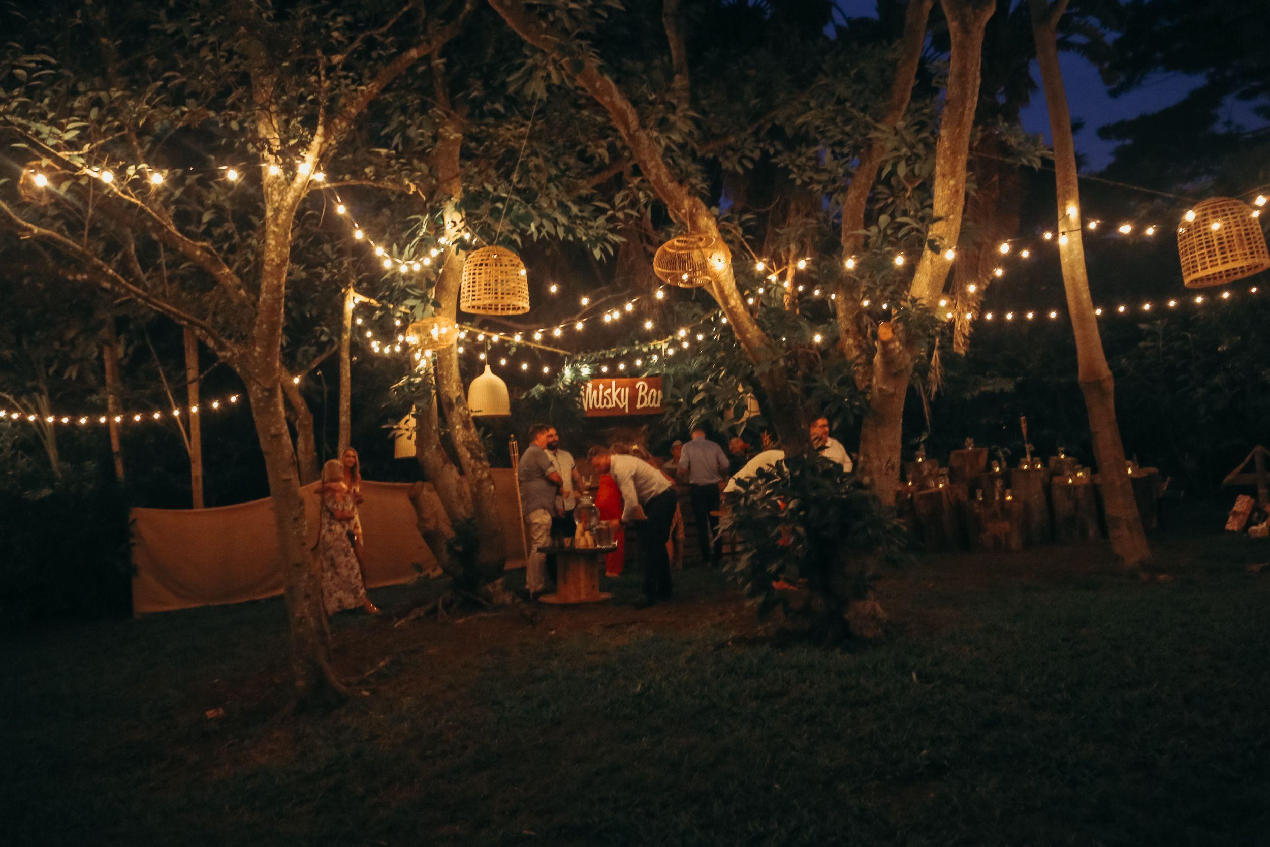 Tropical Orchard Wedding Byron Bay Outdoor bar sets