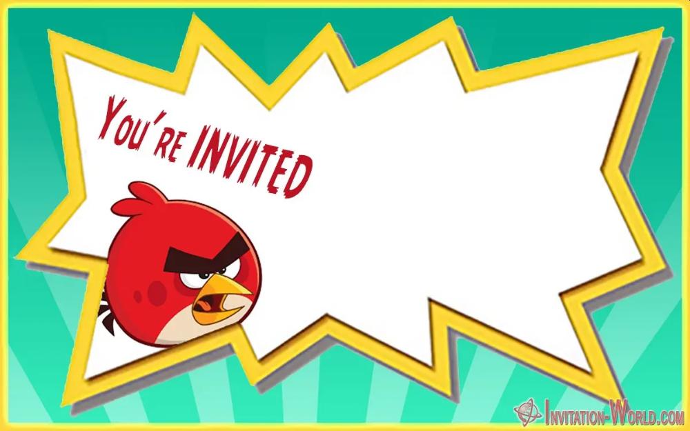 8 Free Angry Birds Invitation Templates Invitation World Bird Birthday Invitations Bird Invitation Bird Theme Parties