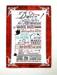Mad Hatter Tea Party Baby Shower Invitation Wording Google Search