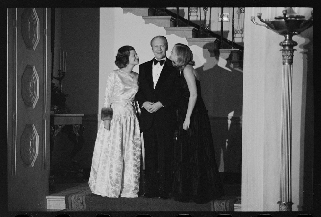 President Gerald Ford First Lady Betty Ford And Daughter