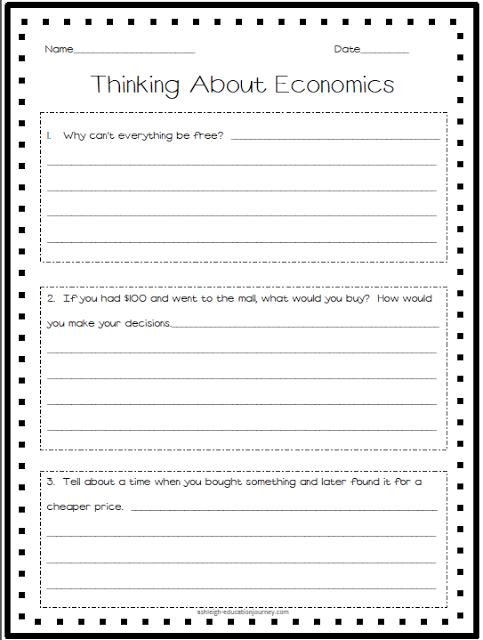 economics pretest activate what your students already know about economics fourthgradefriends. Black Bedroom Furniture Sets. Home Design Ideas