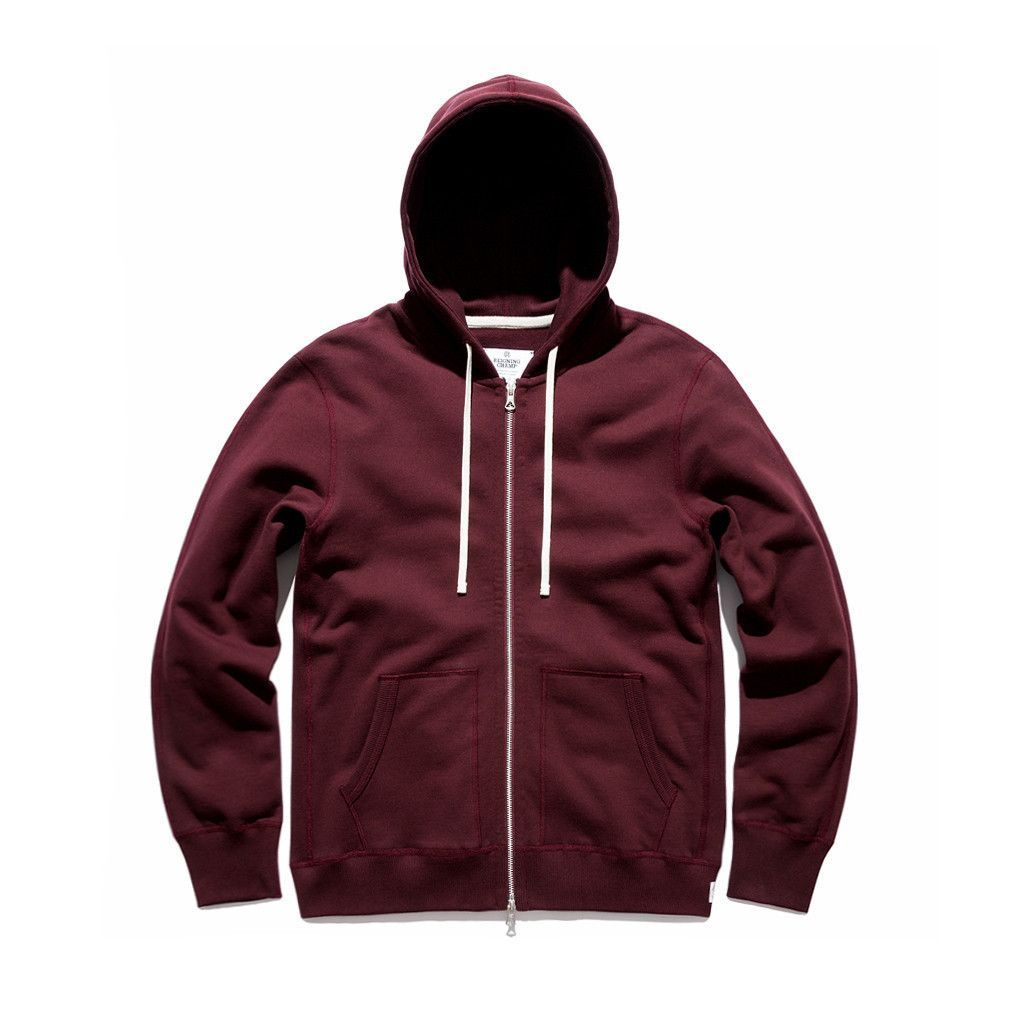 7ea9659b7ce Reigning Champ Blood Zip Twill Terry Midweight Hoodie Sweatshirt ...