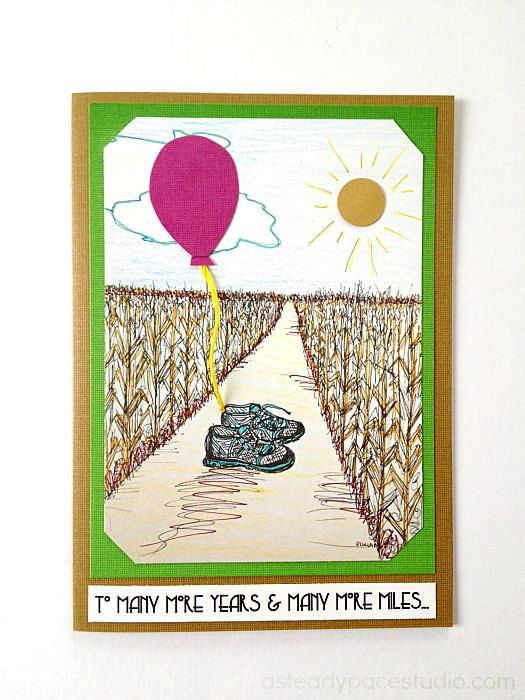 To Many More Years And Miles Running Birthday Greeting Card By ASteadyPaceStudio