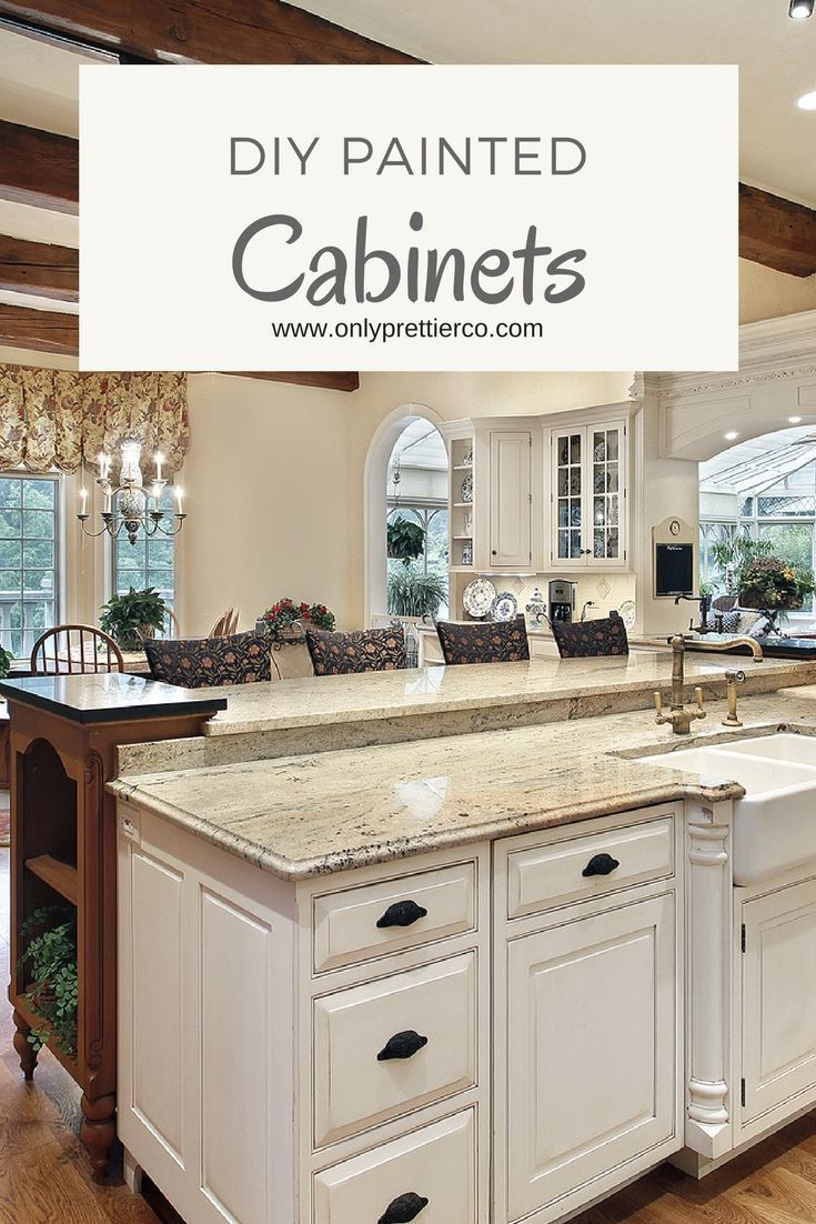 The best way to paint kitchen cabinets. DIY painted ...