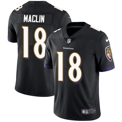 super bowl xlvii nfl jersey mens nike baltimore ravens 18 jeremy maclin black alternate vapor untouchable limited player nfl jersey