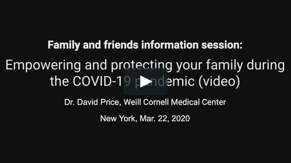 Dr. David Price of Weill Cornell Medical Center in New