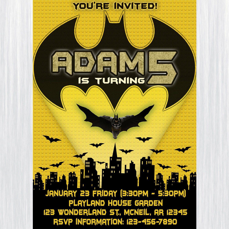 image regarding Batman Printable Birthday Card called Batman Birthday Invitation, Batman Printable Invitation