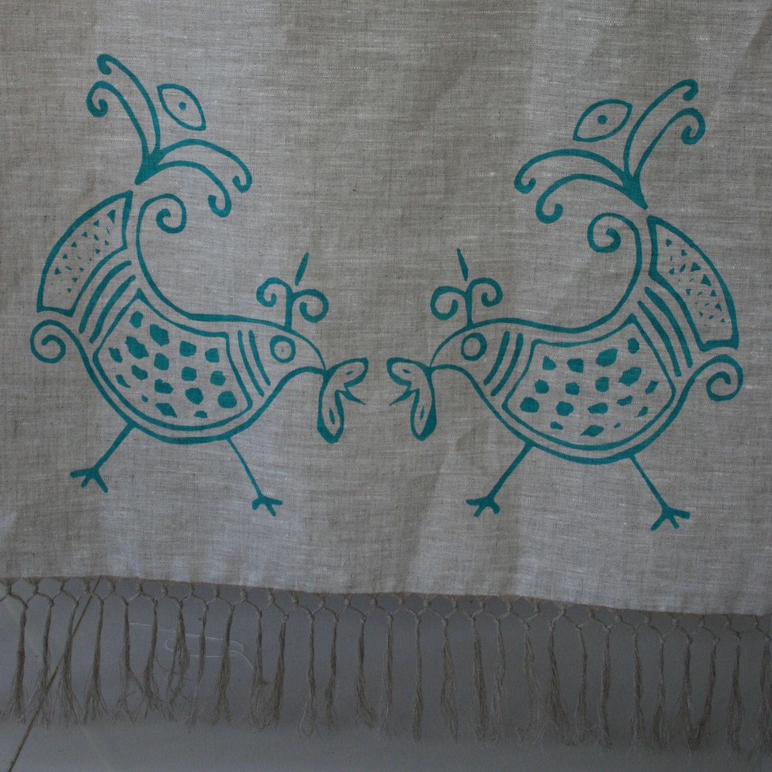 asciugamano viso in lino naturale, 120 x 60 cm