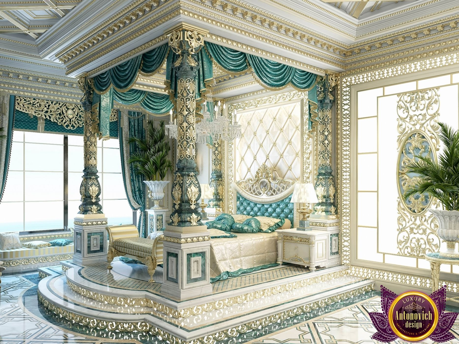 Bedroom design in dubai luxury royal master bedroom for Bedroom designs royal