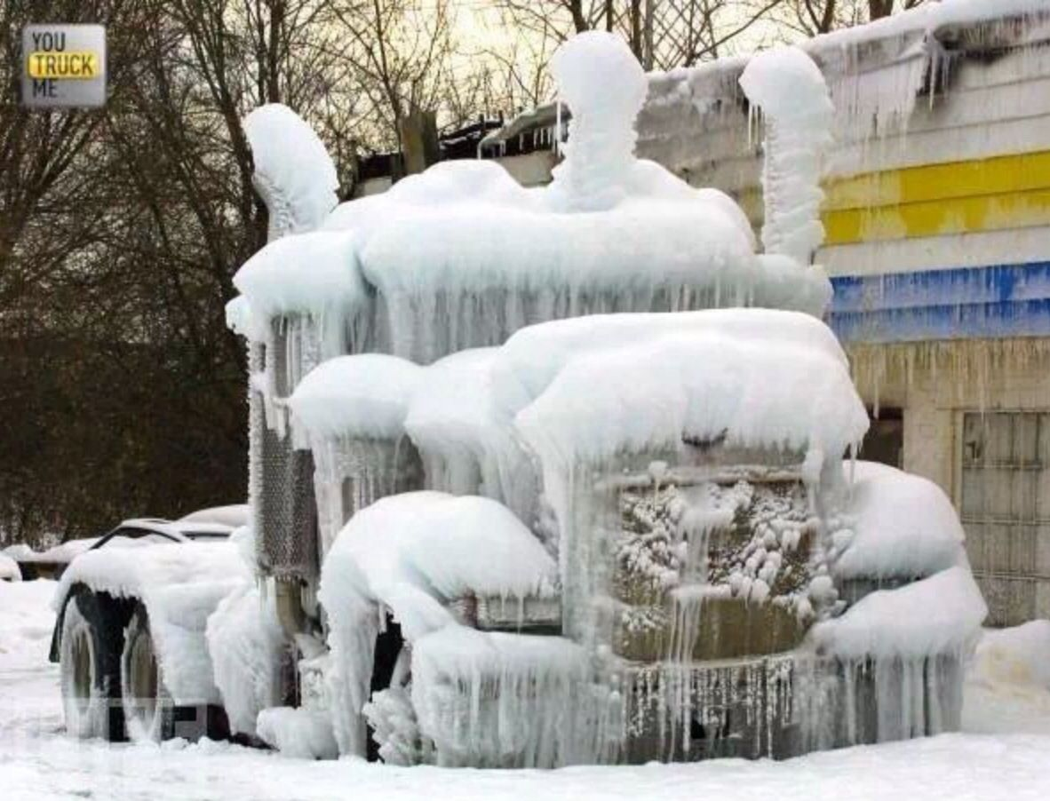 Looks a touch chilly Ice truck, Big trucks, Peterbilt trucks