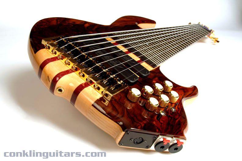 Custom Bass Guitars | Custom 9 String Bass Cocobolo MIDI 1