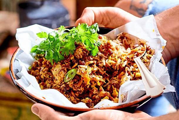 Eine für alle gebratene Reispfanne mit Hühnchenrezept KÖSTLICH   – Essen schmackhaft machen