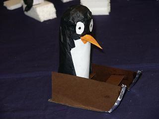 slee met pinguin