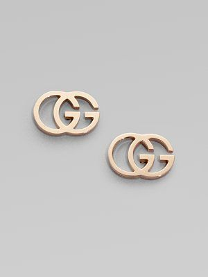 c453e493f78 Gucci 18K Rose Gold Double G Earrings