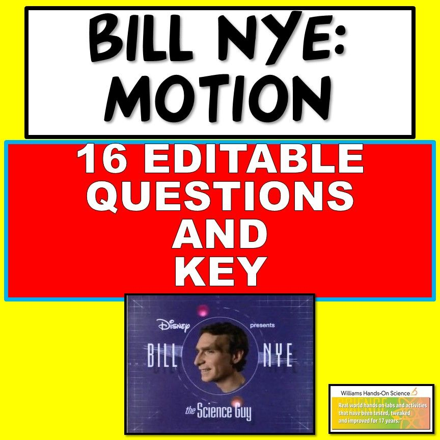 Bill Nye Motion Questions and Key (With images) Middle