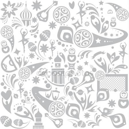 Download - Seamless pattern print Football 2018 Russia World Cup - fresh invitation template vector