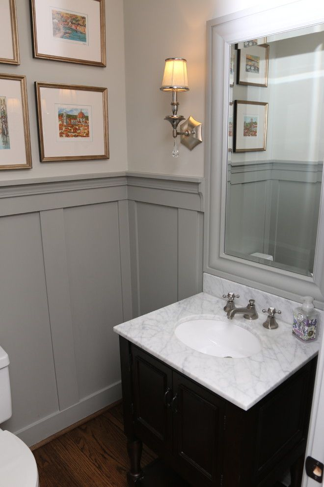 Panelled Room: Powder Room Remodeling Ideas Powder Room Traditional With