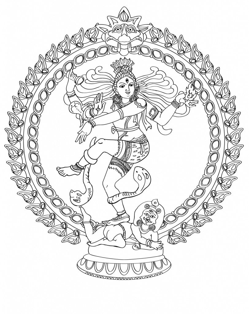 Nataraja Lord Of The Dance Coloring Page At Storytime Yoga For Kids