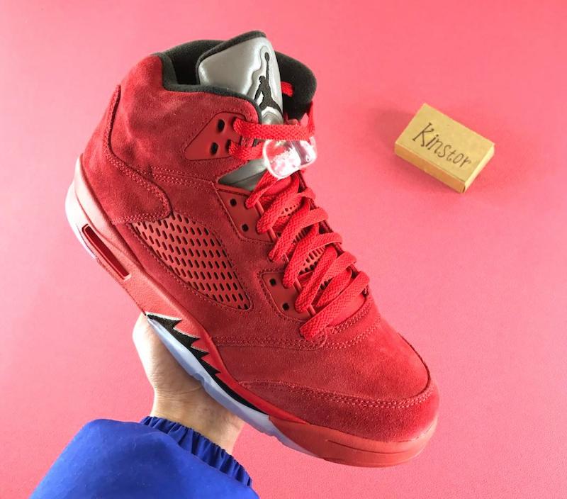 Air Jordan 5 Red Suede Flight Pack West