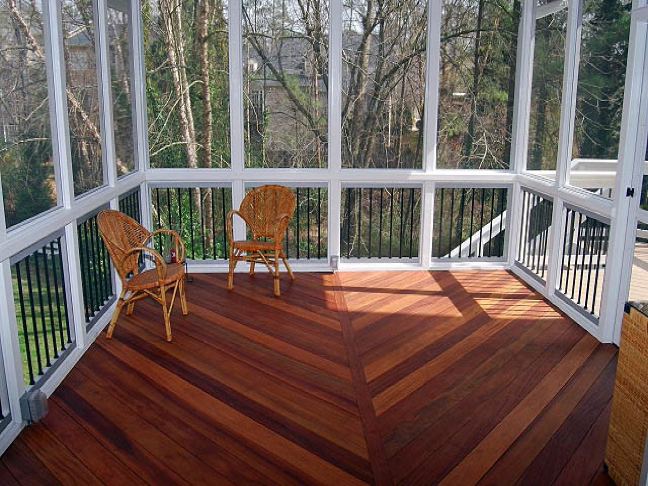 Porch Covering Screened Porch Flooring Screened Back Porch