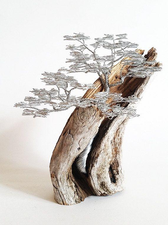 Driftwood+Sculpture+/+Driftwood+Art+/+Driftwood+Bonsai+/+Wire