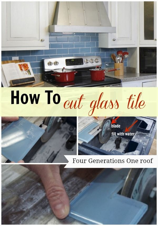 How To Cut Glass Tile Using A Wet Saw Blogger Home Projects We