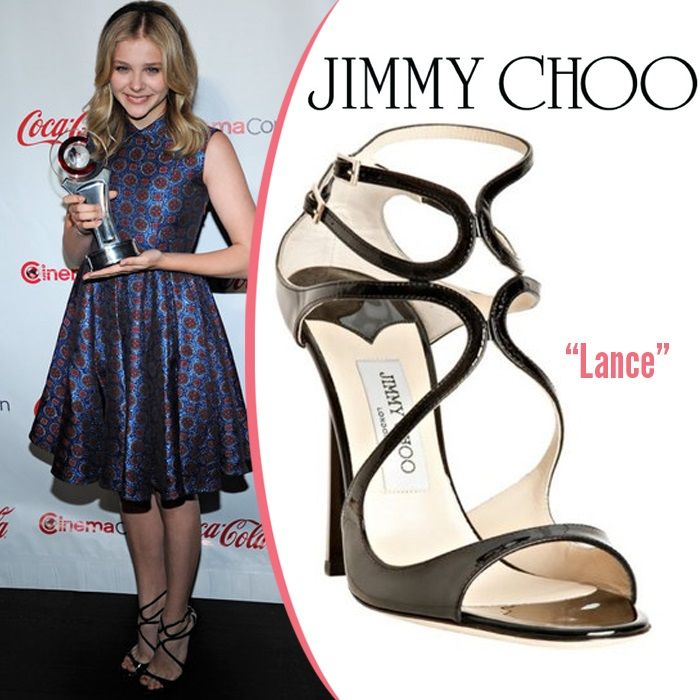 3bc25c03f40d Chloe Moretz in Jimmy Choo Lance Sandal  celebrity  shoes  style ...