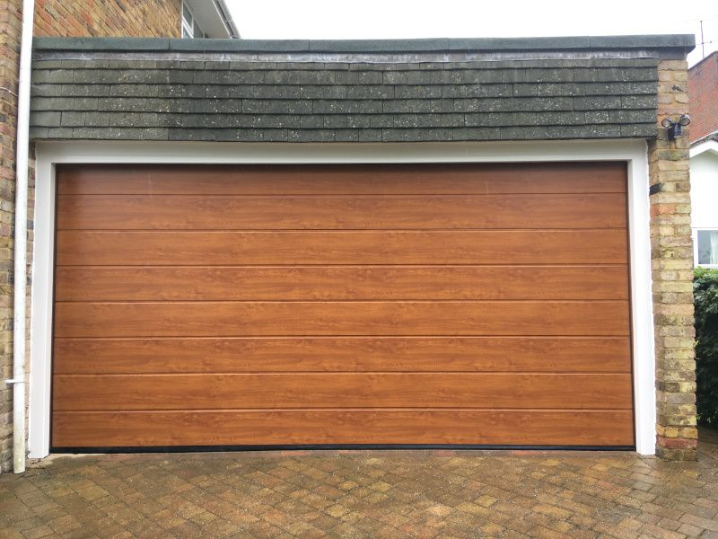 Hormann Double Sectional Golden Oak Swr Redefining Homes
